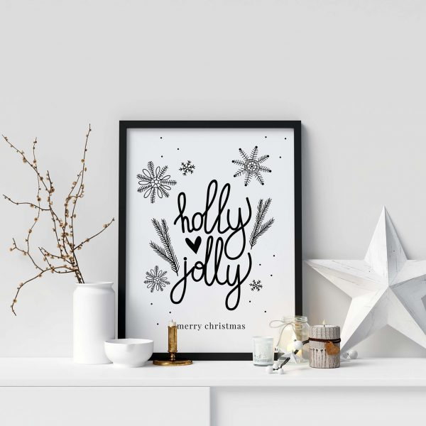 Printable-kerstposter-zwart-wit-quote