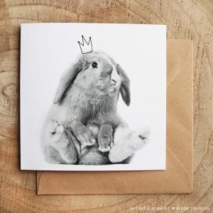 Wenskaart-konijntje